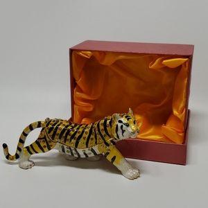 Tiger King of Jungle Trinket Box Jewelry Box